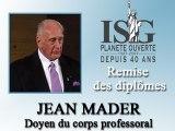 Remise des diplômes ISG 2008 - Discours du docteur Jean Mader - Doyen du corps professoral