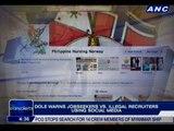 DOLE warns jobseekers vs. illegal recruiters using social media
