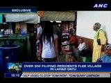 Over 200 Filipino residents flee village in Lahad Datu