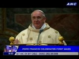 Pope Francis celebrates first mass
