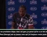 """Clippers - Kawhi Leonard : """"On peut écrire l'histoire"""""""