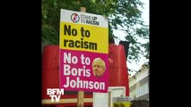 Des manifestations contre l'investiture de Boris Johnson à Londres