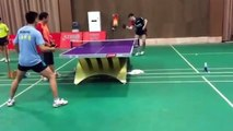 Ovtcharov Table Tennis Interval Training in China