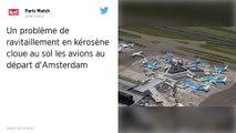 Plus de kérosène à l'aéroport d'Amsterdam, 50 avions cloués au sol avec des centaines de passagers