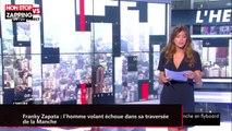 """Franky Zapata : """"l'homme volant"""" échoue dans sa traversée de la Manche (vidéo)"""