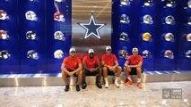 Morata, Koke, Lemar visit Dallas Cowboys, take on punt challenge
