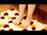 Créez votre tapis à l'aide de rouleaux de papier toilette et de laine