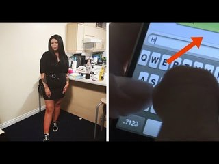 Após o encontro, ela vê ISSO em seu celular. Então ela fica boquiaberta.
