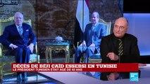 """Décès de Béji Caïd Essebsi : """"il y a une appréhension sur l'après Essebsi"""""""