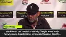 (Subtitled) 'Pitch was not symmetric' Klopp on Yankee Stadium