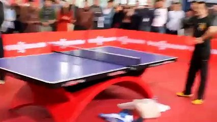Timo Boll played in China with fans. Show TT. HD