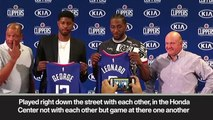 (Subtitled) 'It's pretty dope' Kawhi Leonard & Paul George at Clippers