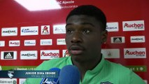 Après AC Ajaccio - HAC (2-2), réaction de Junior Dina Ebimbe