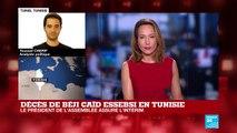 TUNISIE - Le président du Parlement assure l'intérim après le décès d'Essebsi