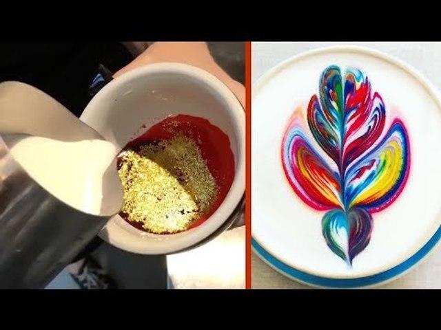 Cette barista fait les cafés les plus colorés du monde