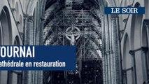 Cathédrale de Tournai en rénovation