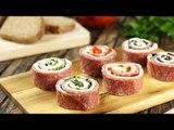 Recette : Roulés salami-fromage façon sushis. L'apéro est prêt !