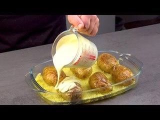 Versez la sauce sur les 6 pommes de terre et mettez au four. Ce sera génial !