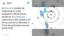 Guadeloupe. Séisme de magnitude 5,1 au large de l'île