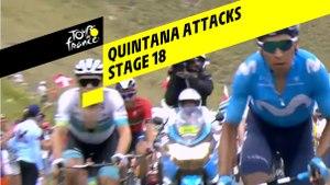 Quintana Attacks  - Étape 18 / Stage 18 - Tour de France 2019
