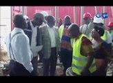 RTG/Visite sur le chantier de construction du nouveau marché de Franceville