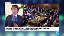 """Pour Boris Johnson, l'accord de divorce avec l'UE est """"inacceptable"""""""