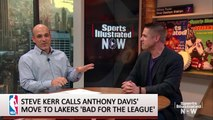 Is Steve Kerr Being Hypocritical About the Anthony Davis Trade?