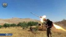 الفصائل المقاتلة تستهدف بالصواريخ تجمعات ميليشيا أسد شمال حماة - سوريا