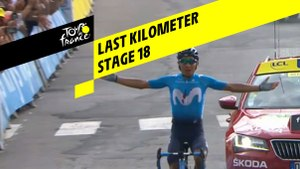 Last kilometer / Flamme rouge - Étape 18 / Stage 18 - Tour de France 2019