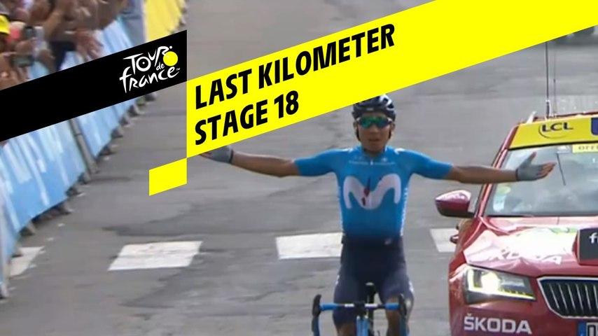 Last kilometer / Flamme rouge - Étape 18 / Stage 18 - Tour de France 2019