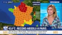 Canicule: record absolu à Paris avec 42,6°C (1/3)