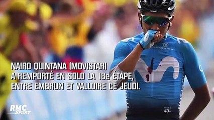 Tour de France : Quintana remporte la 18e étape à Valloire, Alaphillipe reste en jaune