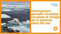 Greenpeace parodie FaceApp révélant le visage de la planète dans 50 ans