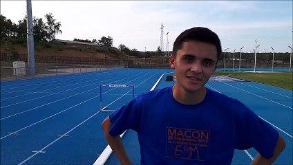Athletisme : les ambitions d'Adrien Blanc au championnat de France 110 m haies