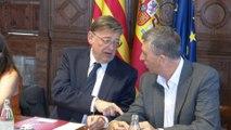 Puig se reúne con miembros del Consell, sindicatos y patronal