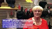 DNA - Marie-Louise Hubinger prend sa retraite (Boutique de Lingerie Marie-Louise, Grand'Rue à Strasbourg)