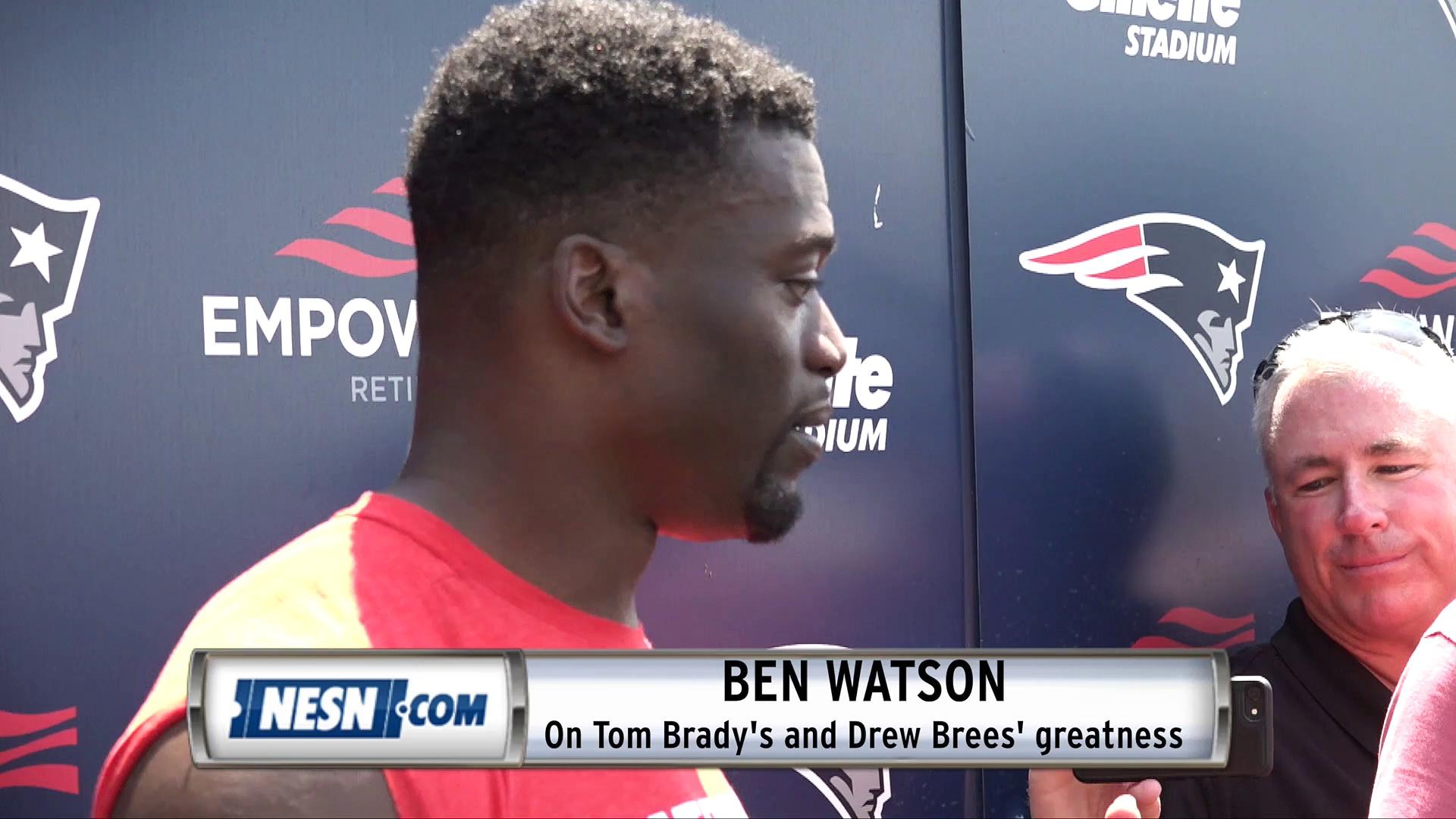 Ben Watson On What He's Learned From Drew Brees, Tom Brady