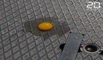 Canicule à Paris: On a testé la cuisson des oeufs sur le bitume par 42,6°C