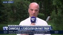 """Canicule: pour Jean-Michel Blanquer, """"ce n'est pas une mauvaise chose de faire de la communication"""""""