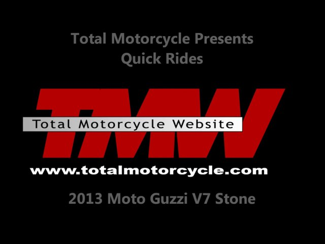 2013 Moto Guzzi V7 Stone  - Total Motorcycle Reviews!