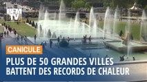 Canicule: une cinquantaine de grandes villes battent leur record de chaleur