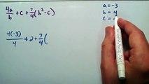 Evaluating Algebraic Expressions, Example 2 , Intermediate Algebra , Lesson 23