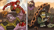 FUNNY THANOS COMICS To Make You Laugh .