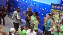 Usain Bolt drops in on some unsuspecting runners in New York