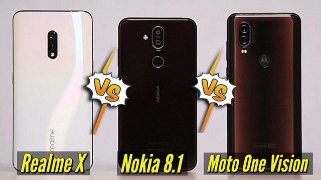 Realme X Vs Moto One Vision Vs Nokia 8.1