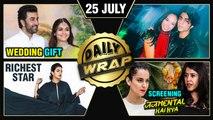 Priyanka Richest Star, Ranbir Alia's Wedding Gift, Judgementall Hai Kya Screening | Top 10 News