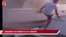Bakırköy ve Pendik'te yat yangını