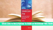 Full E-book Embedded System Design: Embedded Systems Foundations of Cyber-Physical Systems and the