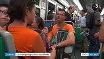 Spéciale Canicule: A Paris, seule trois lignes du métro de la capitale sont climatisées - Témoignages d'usagers - VIDEO