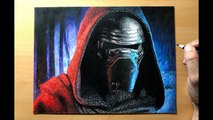 Drawing Kylo Ren - Star Wars - Time-lapse - Artology
